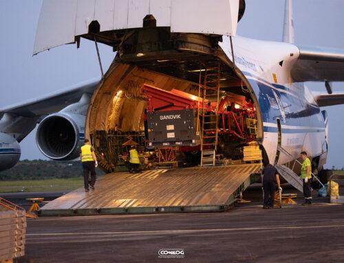 La mine de moanda reçoit 85 tonnes de matériel industriel par avion Antonov