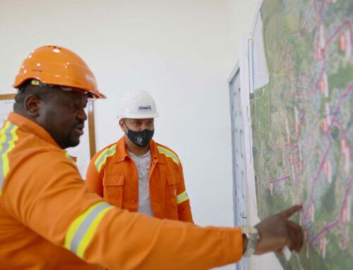 Le député du 2eme arrondissement de la commune de Moanda en visite sur les chantiers RSE
